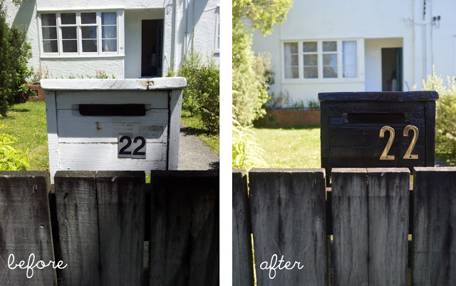 Letterbox Before and After